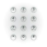 Placa de dial de Digitaces Fotos de archivo libres de regalías