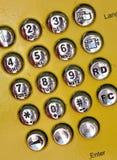 Placa de dial del teléfono público Imagen de archivo