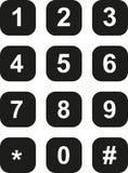 Placa de dial de teléfono stock de ilustración