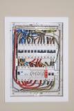 Placa de distribuição elétrica imagem de stock royalty free