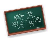 Placa de escola (1) .jpg Fotografia de Stock