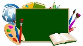 Placa de escola verde ilustração stock