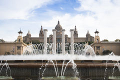 Placa de Espana in Barcelona, Spain Stock Photography