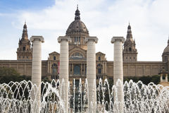 Placa De Espana w Barcelona, Hiszpania Zdjęcie Royalty Free