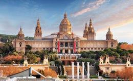Placa de Espania - Museu Nacional, Barcelona, MNAC Fotografia de Stock