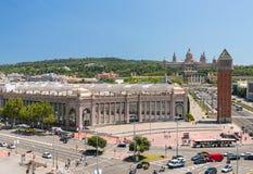 Placa de Espanya το Εθνικό Μουσείο στη Βαρκελώνη Στοκ φωτογραφίες με δικαίωμα ελεύθερης χρήσης