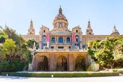 Placa de Espanya, το Εθνικό Μουσείο στη Βαρκελώνη Στοκ εικόνα με δικαίωμα ελεύθερης χρήσης