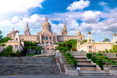 Placa De Espanya, Barcelona Stock Photo