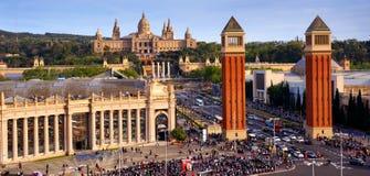 Placa DE espanya in Barcelona Stock Afbeelding