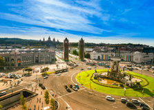 Placa de espanya, Barcelona. Spain Stock Photos