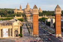 Placa de Espanya Barcelone Images libres de droits