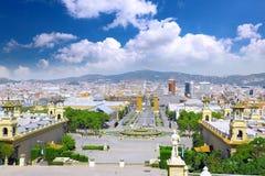 Placa de Espanya, Barcelone. l'Espagne Images stock