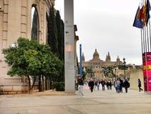 Placa de Espanya Fountain Βαρκελώνη Στοκ Φωτογραφίες