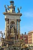Placa de Espanya Fountain巴塞罗那 免版税图库摄影