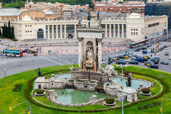 Placa DE Espanya Fountain Barcelona Royalty-vrije Stock Afbeeldingen