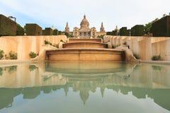 Placa De Espanya muzeum narodowe w Barcelona Obraz Stock