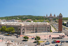 Placa De Espanya the National Museum in Barcelona Royalty Free Stock Photos