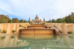 Placa De Espanya, the National Museum in Barcelona. Royalty Free Stock Photography
