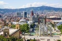 Placa de Espanya View, Βαρκελώνη, Ισπανία Στοκ εικόνες με δικαίωμα ελεύθερης χρήσης
