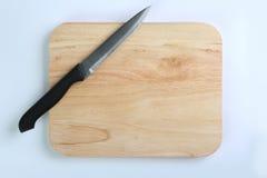 Placa de estaca e faca de cozinha Foto de Stock