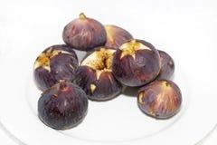 Placa de figos frescos Foto de Stock Royalty Free
