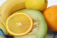 Placa de frutas Foto de archivo libre de regalías