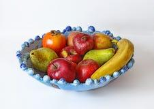 Placa de frutas sanas frescas Imagen de archivo