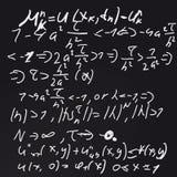 Placa de giz das matemáticas Imagens de Stock Royalty Free