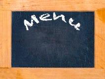 Placa de giz do tempo do menu Imagens de Stock Royalty Free