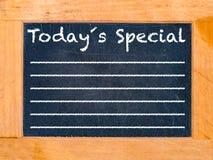Placa de giz especial de hoje Foto de Stock