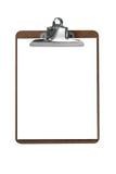 Placa de grampo com papel Imagens de Stock Royalty Free