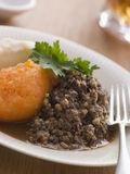 Placa de Haggis Neeps y de Tatties Fotos de archivo