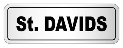 Placa de identificação da cidade de Davids de Saint ilustração do vetor
