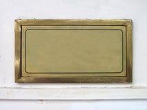 Placa de identificación imagen de archivo