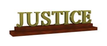 placa de identificación de la justicia Fotos de archivo libres de regalías