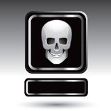 Placa de identificación del cráneo Fotos de archivo