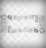 Placa de identificación floral Foto de archivo libre de regalías