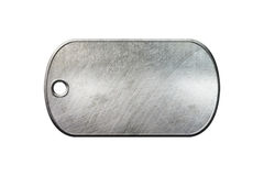 Placa de identificación vieja del metal imagen de archivo libre de regalías