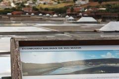 Placa de información de un minero de sal Fotografía de archivo