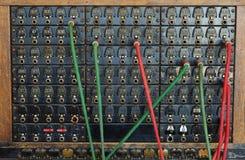 Placa de interruptor do telefone do vintage Imagens de Stock