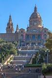 Placa de Ispania The国家博物馆在巴塞罗那, a的西班牙 库存图片