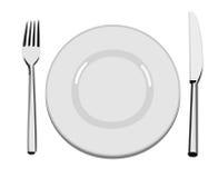 Placa de jantar ilustração stock