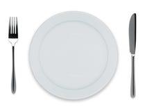 Placa de jantar vazia Foto de Stock Royalty Free