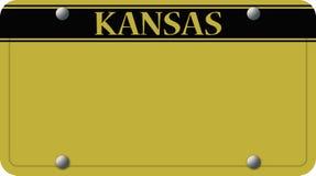 Placa de Kansas stock de ilustración