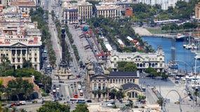 Placa de kolon i Barcelona Arkivfoto