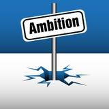 Placa de la ambición Imágenes de archivo libres de regalías