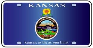 Placa de la bandera de Kansas libre illustration
