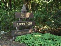 Placa de la ciudad en Lipperode Fotos de archivo libres de regalías