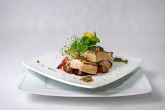 Placa de la comida de cena fina Fotografía de archivo libre de regalías