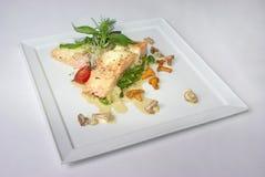 Placa de la comida de cena fina Imagen de archivo libre de regalías